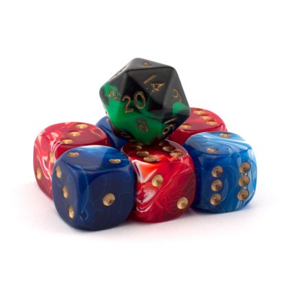 Use dice to decide the battles