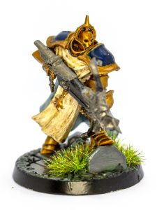 Picture of a golden warrior